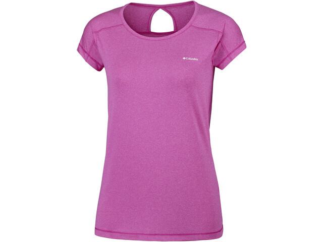 Columbia Peak to Point T-shirt à manches courtes Femme, haute pink